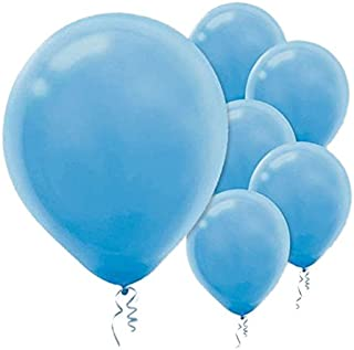 Solid Color Latex Balloons | Powder Blue | Pack of 15 | Party Decor