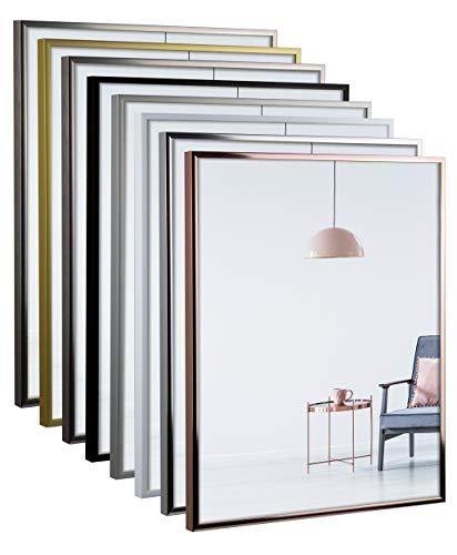 myposterframe Aluminium Bilderrahmen metallisch 80 x 120 cm Amalthea Silber Hochglanz mit Kunstglas klar 1mm