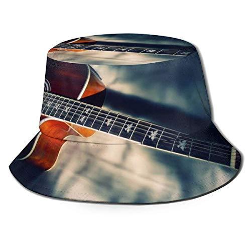 Beyond Loser Sombrero de Pescador Guitarra Vintage Retro Algodón Plegable Bucket Hat para Excursionismo Cámping De Viaje Pescar