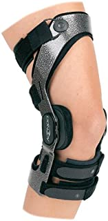 DonJoy Armor Knee Support Brace with Standard Hinge: Short Calf Length, ACL (Anterior Cruciate Ligament), Left Leg, Large