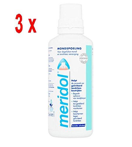 3 x Meridol Mundwasser / Mundspülung - 400 ml