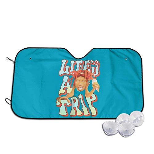 Trippie Redd Life 's A Trip Hip Hop Car Parasol para Coche Parasol para Coche Parasol para automóvil Cubierta Protectora Plegable para automóvil