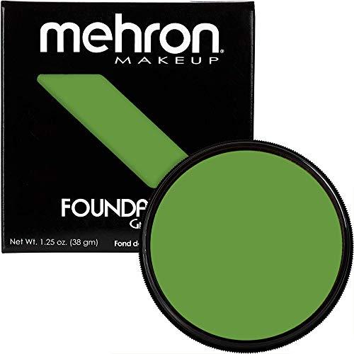 Mehron Makeup Foundation Greasepaint (1.25 oz) (GREEN)