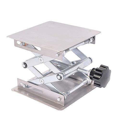 PXP Edelstahl-Hubtisch Manueller Aluminiumoxidations-Hubtisch Labor-Hubgerät Labor-Hubständer-Rack,(100 * 100 * 160mm)