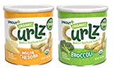 Sprout Organic Curlz Toddler Snacks, Variety Pack, 1.48 Ounce Canister (6 Count) 3 of Each: White Cheddar & Broccoli (Packaging May Vary)