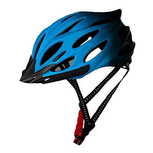 Homiki Fahrradhelm Erwachsene Leichte Fahrradhelm Fahrradhelm mit Rücklicht einstellbar für Männer Frauen Blau Fahrradhelm