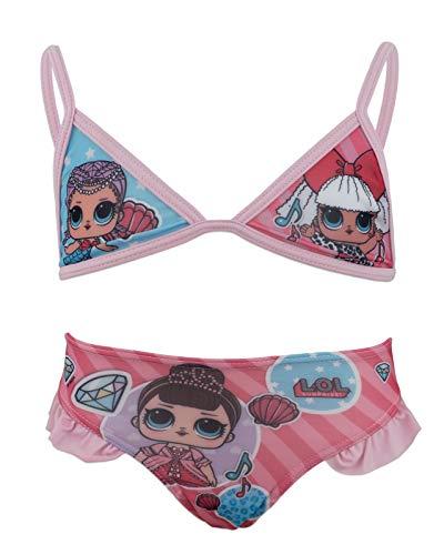 L.O.L. Verrassing! - Bikini Kostuum 2 Stukken met Volant Sea Pool - Full Print - Girl - Originele product nieuwigheid met officiële licentie 18-XXX [Roze 070-4 jaar - 104 cm]