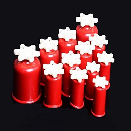 Cupping senza fuoco Set per massaggio sottovuoto cinese, 6 ventose per aspirazione sottovuoto Linfodrenaggio o sollievo dal dolore naturale Coppettazione scorrevole