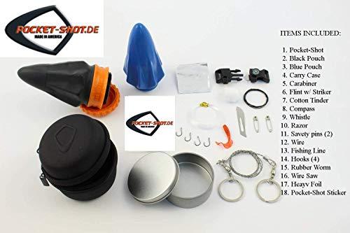 Survival Kit von Pocket-Shot - Überlebensausrüstung mit Schleuder