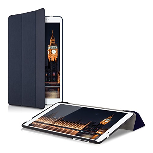 kwmobile Huawei MediaPad T1 10 Hülle - Smart Cover Tablet Case Schutzhülle für Huawei MediaPad T1 10 - Dunkelblau