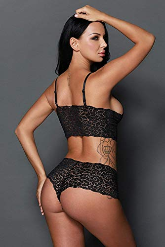 VINDHWASHNI Bra & Panty Set for Women ll Ladies and Girls Lingerie Set (Black)
