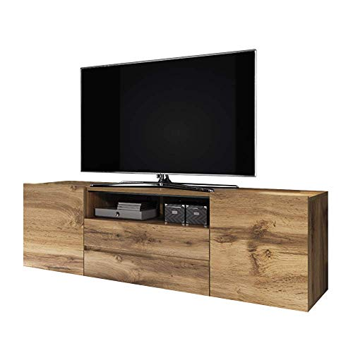 Selsey Mueble bajo para TV, roble mate
