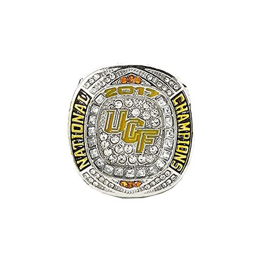 TYTY 2017-2018 NCAA National College Athletic Association UCF Championship Ring Hombre, Championship Anillo de réplica Personalizado Anillos de Diamantes para Hombres,with Box,12