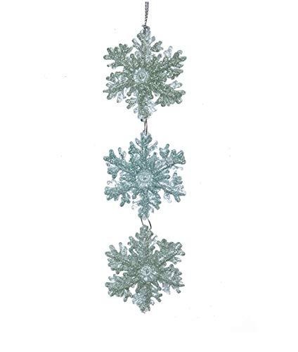 KSA 6' Mint Green Glittered Snowflake Pendant Christmas Ornament