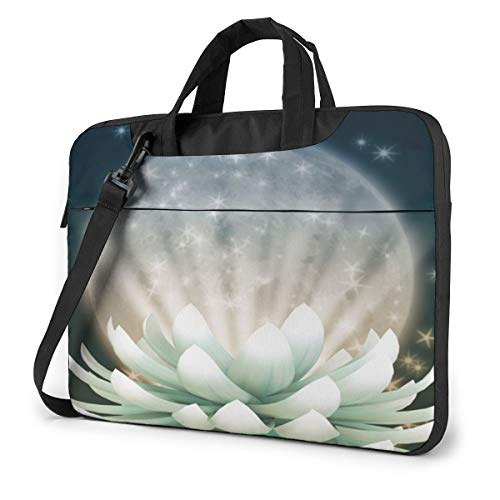 Beautiful Lotus Flower Floral Laptop Case 14 Inch Carrying Case with Strap