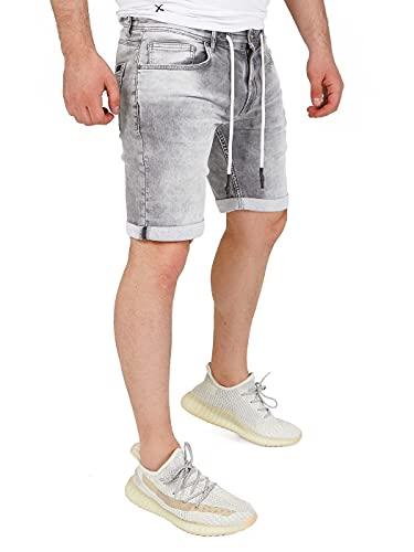 Yazubi Jeans Shorts Herren Kurze Hose Jeans Jogginghose Wie Jeans Men's Shorts Mit Reißverschluss Sweat Bermuda Henry, Grau (Frost Gray 170000), W33