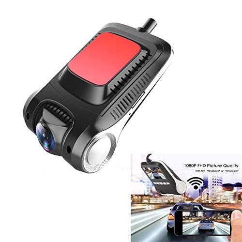CDZJP Dash Cam/1080p mini-autocamera met parkeermonitor, G-sensor, Wdr, nachtzicht, bewegingsdetectie, loop-opname, rotatie van het scherm