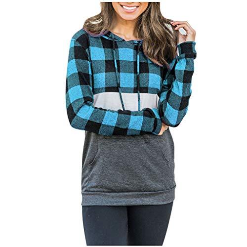 iHAZA L'automne Femmes T-Shirts Mode T-Shirts décontractés à Manches Longues Sweat à Capuche