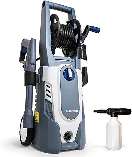 Blaupunkt Mobiler Hochdruckreiniger PW3100c – 1600 W Elektromotor – 135 bar – 7,1L/min – 5 m Hochdruckreiniger-Schlauch – Vario-Lanze – Reinigungsmittelpistole – Schlauchtrommel