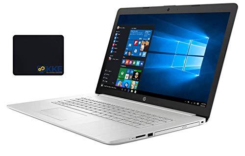 "HP 17t Laptop, 17.3"" Full HD - 1080P Screen, Intel Core i5-10210U Processor, 16GB RAM, 1TB Hard Disk Drive, DVD-RW, Webcam, Wireless-AC, Backlit Keyboard, Win 10 Home, Silver, KKE Mousepad"