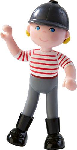 Haba 303675 - Little Friends – Reiterin Conni, Little Friends Biegepuppe mit Helm und Reitstiefeln zum Nachspielen der beliebten Conni-Abenteuer, Spielzeug ab 3 Jahren