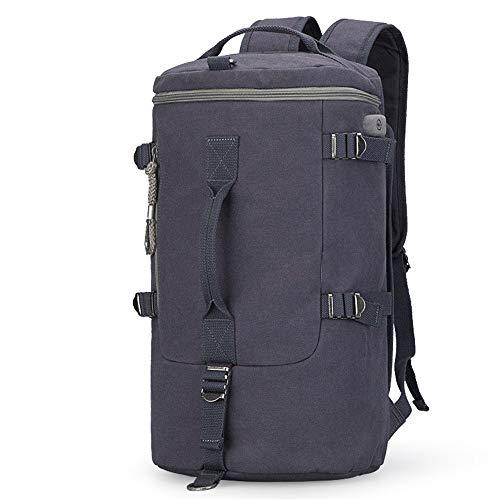 MxZas Overnight Weekend Bag Mens Weekend Travel Bag Backpack Canvas Overnight Bag Luggage Gym Sport Shoulder Handbag Carry On Bag (Color : Blue, Size : 45x22x27cm)