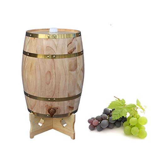 Cubeta de hielo Enfriador de cerveza Roble Barrica Envejecimiento Barril, Tanque de almacenamiento de roble con Relleno de papel de aluminio incorporado, Adecuado para tu propio Whisky Cerveza