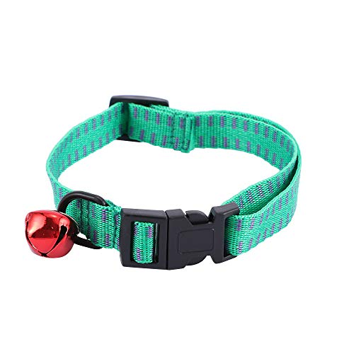 TEBX Collar de perro de seguridad al aire libre Collar de nylon ajustable cuello correa de cuello Pet Suppies collar de perro (M,verde)