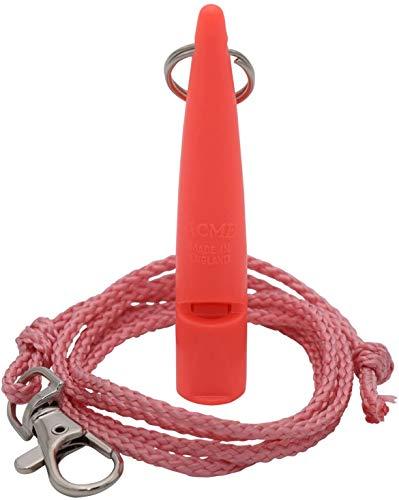 ACME Hundepfeife No. 211,5 + GRATIS Pfeifenband | Original aus England | Ideal für die Hundeausbildung | Robustes Material | Genormte Frequenz | Laut und weitreichend (Coral red)