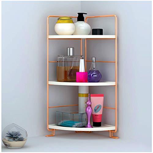 kaileyouxiangongsi 3-Tier Bathroom Countertop Organizer - Vanity Tray Cosmetic & Makeup Storage- Kitchen Spice Rack Standing Shelf - Corner Storage Shelf, Rose Gold