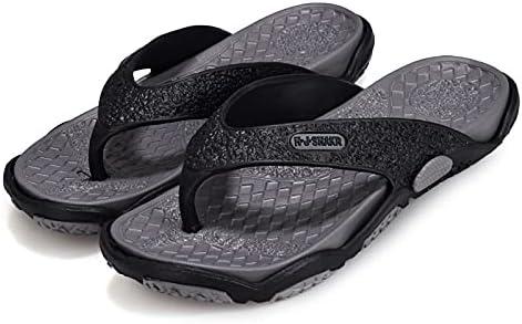Men's Beach Shoes Massage Bathroom flip Flops Plus Size 45 Slippers