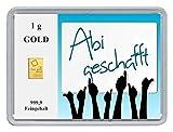 Feingewicht 1g Feingehalt 999,9 Prägefrisch Hersteller ESG Valcambi Herkunft Schweiz
