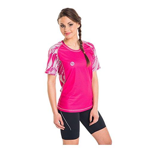 Nessi T-Shirt pour Femme DK Fitness T-Shirt de Course à Manches Longues Respirant Rose L - 21 Rosa