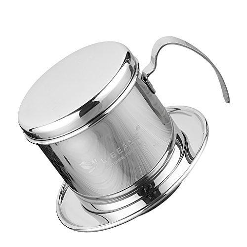 1pc Pot Stainless Steel Vietnam Coffee Maker Drip Filter Maker Brewer 7.5cm