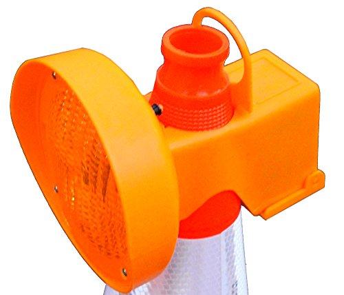 UvV-Flex Warnleuchte, Blinkleuchte gelb zum Aufsetzen auf Leitkegel (für einzelne Leitkegel, nicht synchron)