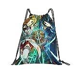 FLYBAI-CASE Sword Art Online - Bolsa de deporte unisex con cordón, ligera, para maquillaje, barra, bolsa de polietileno para la escuela y viajes