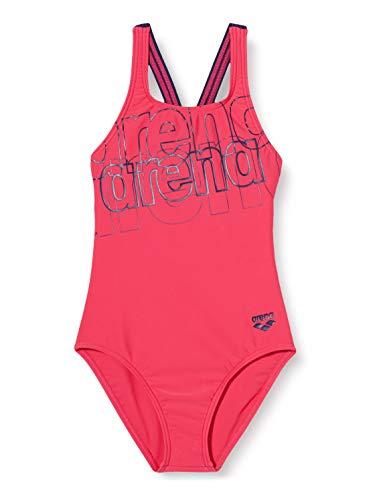 ARENA Mädchen Sport Badeanzug Spotlight, Freak Rose-Navy, 140