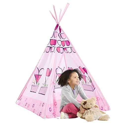 GIYL Kinder-Spiel-Zelt, Faltbare Spielhaus, für Inneneinrichtungen, Kinder-Spiel-Zelt Mädchen Castle