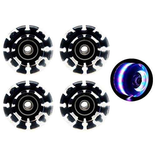 GSPOK Rueda de patineta,4Pcs Glow Skate Flash Wheel Micro Scooter Flashing Roller Back Rear Skateboard Scooter Ball Roller Wheel,F,China