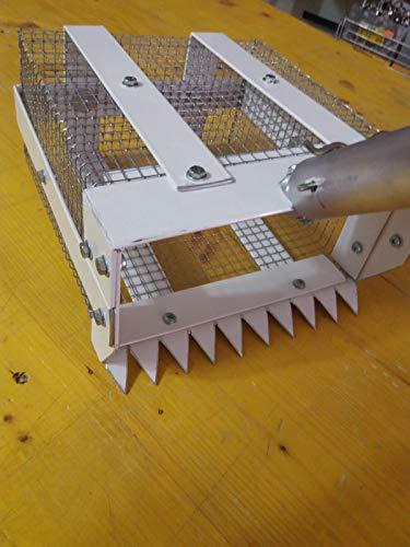 EDILDECORI (Offerta) RASTRELLO Per TELLINE In Alluminio 21X12X23CM ANTIRUGGINE LEGGERISSIMO RACCOGLI Pesca Completo Di Bastone In Alluminio ALLUNGABILE
