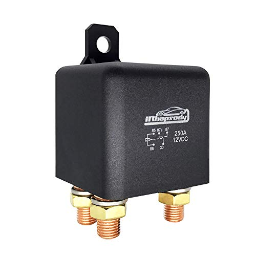 4 Pin 12VDC Heavy Duty Continuous Relay to Switch Power On//Off 4 Terminal Automotive Electrical Relay Split Charger Contactor IRHAPSODY 250 Amp High Power Starter Relay