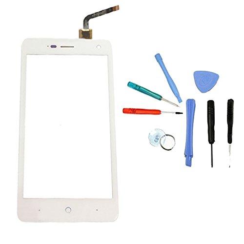 Touchscreen Display Touch Screen Front Reparatur Digitizer + WERKZEUG Für ZTE Blade L3 (White)