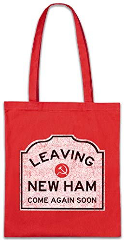 Urban Backwoods Leaving New Ham Sign Boodschappentas Schoudertas Shopping Bag