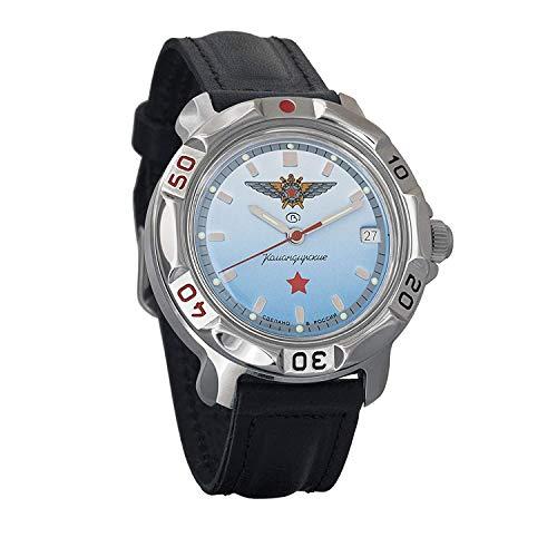 Vostok Komandirskie 811290 / 2414a Militar Special Red Star Commander - Reloj ruso, color azul