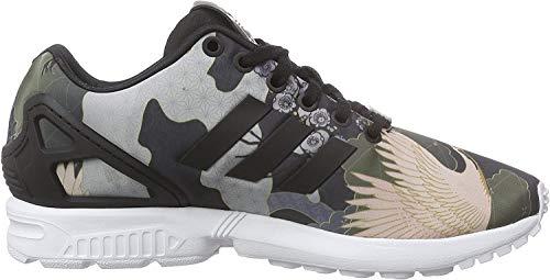 adidas Damen ZX Flux Sneaker, Schwarz (Core Black/Core Black/Ftwr White), 38 2/3 EU