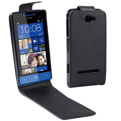 Yiki New Vertical Flip Ledertasche for HTC Zenith / 8S (Schwarz)