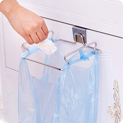 MASUNN RVS Hangende Houder Rack Keukenkast Deur Terug Organizer Voor Thuis Prullenbak Handdoek