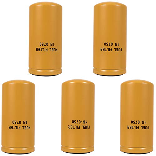 1R-0750 Advanced High Efficiency for CAT Fuel Filter Multipack, 2 Micron Cellulose Media Filter (5 PCS)