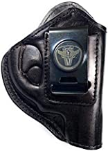 Cardini Leather USA – Zorro Series Holster – Right Handed – Black Leather – For S & W J Frame – Concealed Carry IWB with Clip