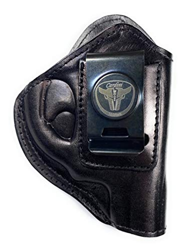 Cardini Leather - for S&W J Frame - Concealed Carry - Inside the Waistband - IWB with Clip